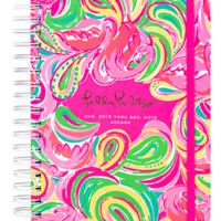Lilly Pulitzer Large 17 Month Agenda- All Nighter