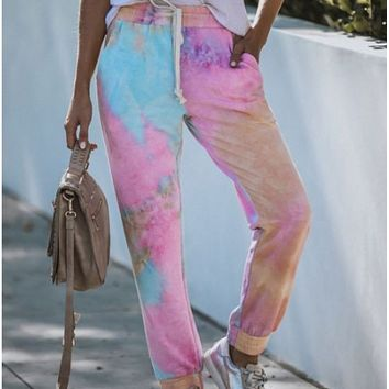 New hot sale all-match sports printed trousers