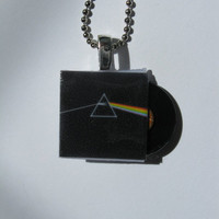 Pink Floyd  Mini Album Pendant Necklace with Tiny by rockujewels