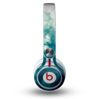 The Green Unfocused Orbs Of Light Skin for the Beats by Dre Mixr Headphones