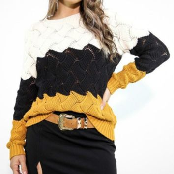 Explosion models Wish Women's loose rainbow sweater