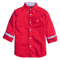H&M - Cotton Shirt - Red - Kids