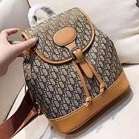 D DIOR New fashion more letter leather backpack bag women-1