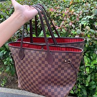 LV Louis Vuitton classic versatile large-capacity shopping bag mother bag two-piece