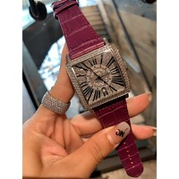 Franck Muller Newest Woman Men Fashionable Diamond Quartz Movement Wristwatch Watch 11