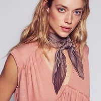 Free People Pleated Iridescent Bandana