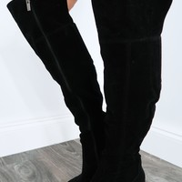 Out Of Touch Boots: Black