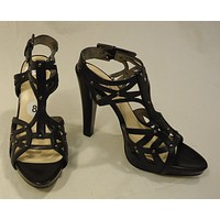 Guess Gladiator Strappy Heels Leather Female Adult 8 Black Solid/Studs 16-210gg -- New with Tags