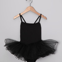 Black Skirted Leotard - Toddler & Girls | zulily
