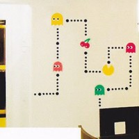 Pacman Pac-Man Video Game Wall Decal Stickers Vinyl Mural Room Art Decor
