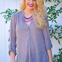 Springtime Top in Subtle Lilac - Boutique Clothing | JC's Boutique