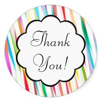 Rainbow Kisses - Thank You Sticker
