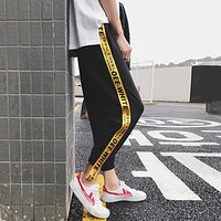 Hot Summer Men casual lovers ribbon Ankle-Lenght Pants male loose harem pants man plus size trousers ankle banded pants S-5XL