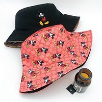 GUCCI x Disney Women Men Sun Hat Baseball Cap Hat Straw Fisherman Hat
