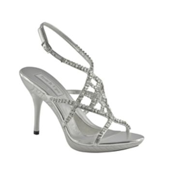 Trinity by Touch Ups Silver Platform Sandal | Prom Shoes | Homecoming Shoes | Bridal Shoes | GownGarden.com