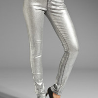 Juicy Couture Foil Coated Skinny Denim in Silver from REVOLVEclothing.com
