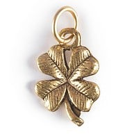 Four Leaf Clover Charm Gold or Silver