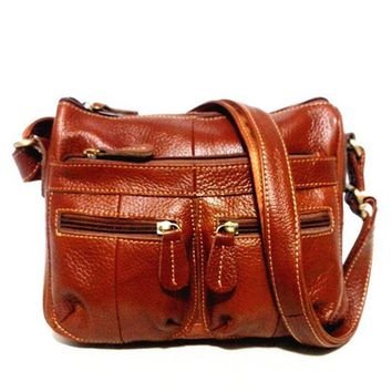 Just Follow 100% Genuine Leather Female Cross-body Soft Casual Shopping Bags Women's Messenger Vintage Shoulder Bag Lady Bag