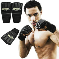 2pcs Cycling Climbing Fishing Boxing Gloves One Pair Half Mitts Sparring Boxing Gloves Gym Muay Sparring Training Tool