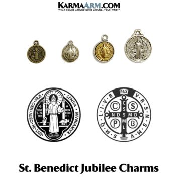 Charm: Jubilee Medal | St. Benedict