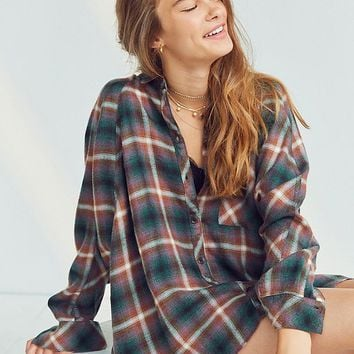 BDG Brendan Cozy Flannel Button-Down Shirt | Urban Outfitters