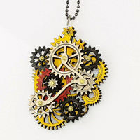 Rastafarian Colored Kinetic Pendant by GreenTreeJewelry on Etsy