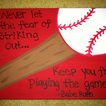Baseball or Softball Canvas Quote (Made to order) 11x14