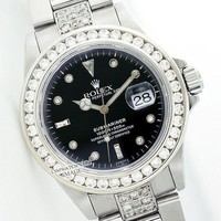 Rolex Pearl Casual Men's Submariner 5ct Diamond Stainless Steel 40mm - Pre-Owned G
