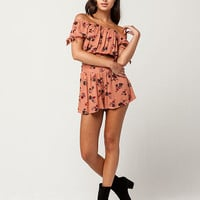 IVY & MAIN Floral Off The Shoulder Top And Shorts Set | Blouses