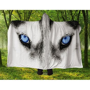 Husky Hooded Blanket