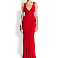 ABS - Deep V Gown - Saks Fifth Avenue Mobile