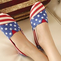 Latest American flag canvas shoes