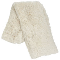 Shaggy Sherpa Throw - Ivory