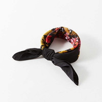 Floral Silky Mini Square Scarf   Urban Outfitters