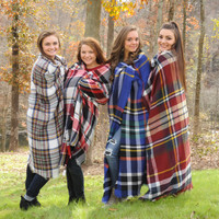 Mad for Plaid Blanket Scarves