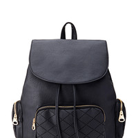 Laser Cut Faux Leather Backpack