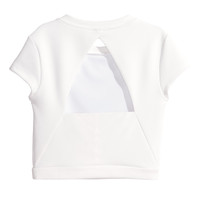 H&M - Top with Cut-out Back - White - Ladies