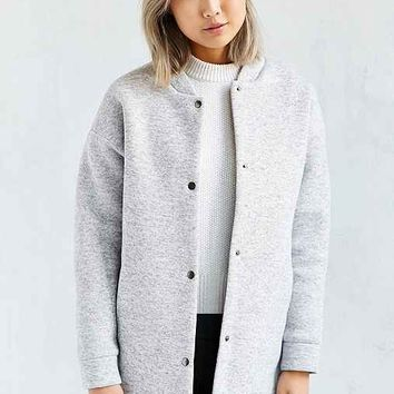 Lucca Couture Long Knit Bomber Jacket