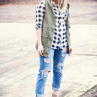 English Ivy Hooded Vest
