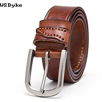 Male Belts For Men Jeans Cow Leather