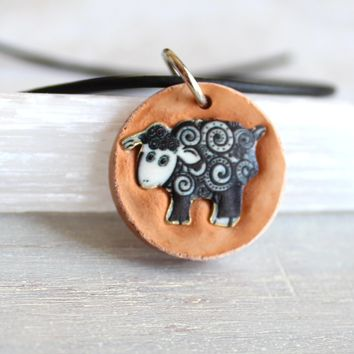 Sheep necklace - available in other colors