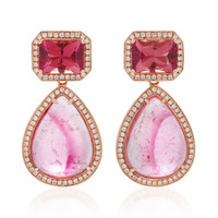14K Rose Gold Multi-Stone Earrings | Moda Operandi