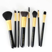 Makeup Brush Set. 8pcs Black High Quality Cosmetic Brushes Kit and Makeup Bag. Professional Kit Featuring Flat Top Kabuki Foundation Brush, Powder Brush, Eyeshadow Brushes, Concealer and More. All Skin Types By Altair Beauty