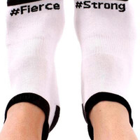 #Fierce and #Strong Labor Socks