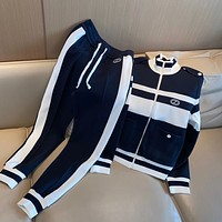 GUCCI Women Casual Top Pants Set Two-piece