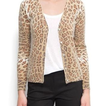 MANGO - CLOTHING - Cardigans and sweaters - Leopard print cardigan