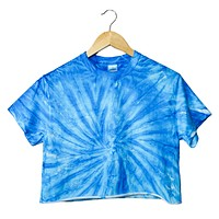 NEON COLLECTION: Sapphire Tie-Dye Unisex Cropped Tee