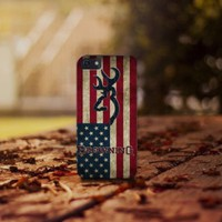 Browning Deere US American for iphone 4 5 5c 6 6plus, samsung S4 S5 case cover