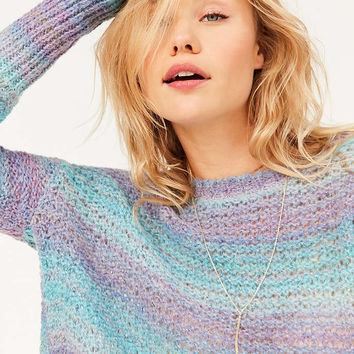 Ecote Daybreak Gradient Stripe Sweater - Urban Outfitters