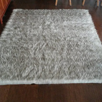 Large Faux Fur Area Rug